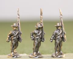 British Infantry in Roundabouts, Round Hats, Advancing Shoulder Arms