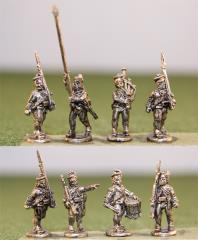 Highlanders in Gaitered Trousers w/Command