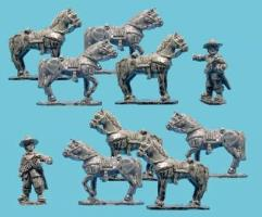 Dragoon Horses and Horse Holders
