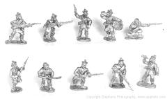 British Infantry 1860s Skrimish w/Command