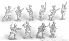 Sikh Infantry Advancing w/Command