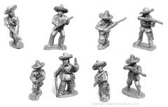 Mexican Irregulars on Foot w/Command