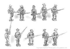 Infantry Advancing w/Light Equipment & Hat