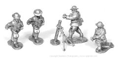 British Heavy Trench Mortar and Crew