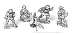 American Heavy Trench Mortar and Crew