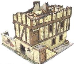 European - Bombed out Wood Frame House