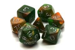 Emerald & Orange w/Silver (7)