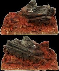 Wrecked Panzer IV D