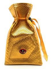 Dragon Eye Dice Bag - Gold