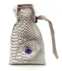 Dragon Eye Dice Bag - Silver