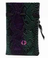 Spectral Dragon Eye Dice Bag - Purple & Green