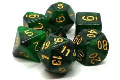 Green & Black w/Gold (7)