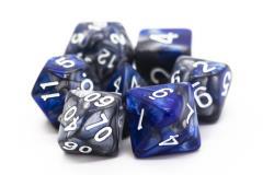 Poly Set Silver & Blue w/White (7)