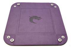 Dice Tray - Purple w/Black