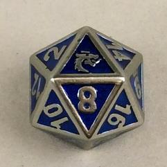 d20 Metallic Blue