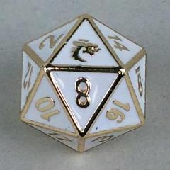 d20 White w/Gold
