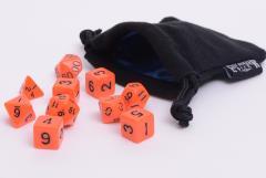 Orange Opaque w/Black (10)