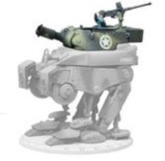 Medium Combat Walker M3-F2 - Steel Rain (Light) - Tropical Petard Turret (Kickstarter Exclusive)