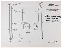 Star Trek the Next Generation Construction Diagram - PADD Pocket Terminal - Official Photocopy