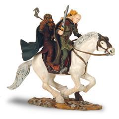 Legolas & Gimli on Horseback