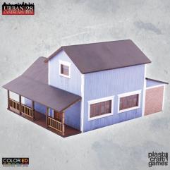 Suburban Blue House