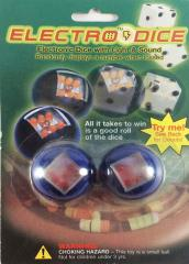 Solid Blue ElectroDice Set (2 d6)