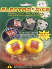 Solid Yellow ElectroDice Set (2 d6)