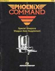 Special Weapons Data Supplement