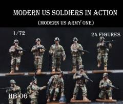 Modern US Soldiers in Action