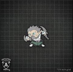 Chibi Garryth - Blade of Retribution Pin