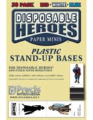 Plastic Stand-Up Bases - Red, White, & Blue (30)