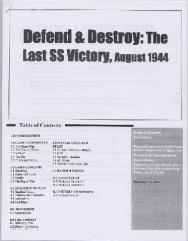 Defend & Destroy - Last SS Victory, August 1944