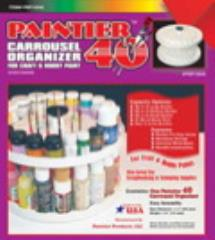 Paintier 40 - Carrousel Organizer for Paints