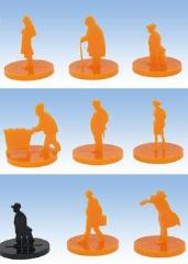 Pulp Citizens Tokens - Orange