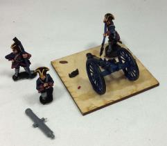 3 Pdr Gun w/Crew #1
