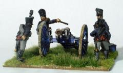 Prussian Foot Artillery Firing