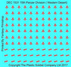15mm Decal Set - 15th Panzer Division Western Desert