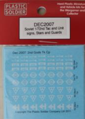 Decals - Soviet Tac and Unit Signs, Stars and Guards