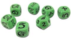 One Ring, The - Dice Set, Green (7)