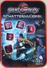 Shadowrun 5th Edition Dice Set w/Tin (9) (Limited Edition, Red)
