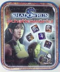 Shadowrun 4th Edition Dice Set w/Tin, Blue & Gold (12) (Limited Edition)