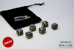 Purple w/Green Grooves (6)
