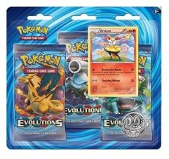XY Evolutions - 3 Booster Blister Pack - Braixen