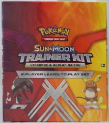 Sun & Moon Trainer Kit Display Box - Alolan Raichu & Lycanroc
