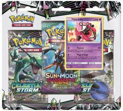Sun & Moon Celestial Storm 3-Booster Blister Pack - Tapu Lele