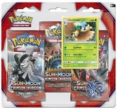 Sun & Moon Crimson Invasion 3-Booster Pack - Decidueye