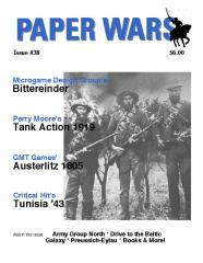"#38 ""Bittereinder, Tank Action 1919, Austerlitz 1805, Tunisia '43"""
