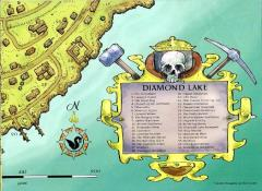 Diamond Lake Poster Map