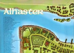 Alhaster Poster Map