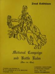 Medieval Campaign and Battle Rules - One-to-One (2nd Edition)
